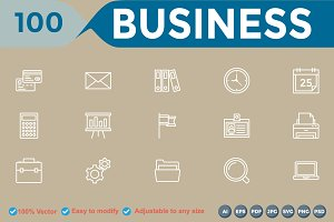 Business Line White Icon