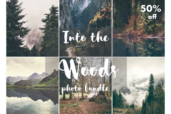 Into the woods photo bundle 50%off