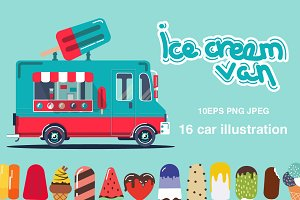 Ice cream van set