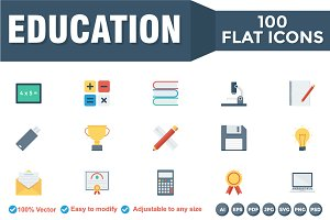 Educational Flat Icons