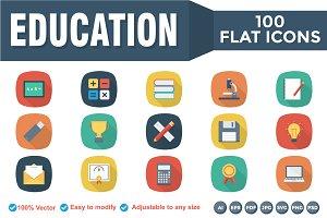 Educational Flat Square shadow Icons