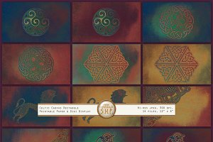 Celtic Backgrounds: vivid sacred art
