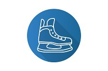 Hockey ice skate icon. Vector