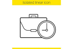 Work time linear icon. Vector