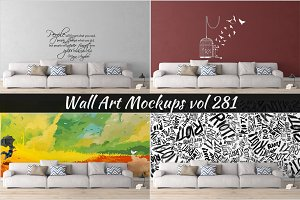 Wall Mockup - Sticker Mockup Vol 281