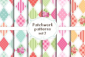 Patchwork seamless patterns set#2