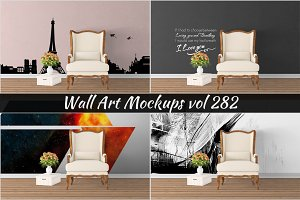 Wall Mockup - Sticker Mockup Vol 282