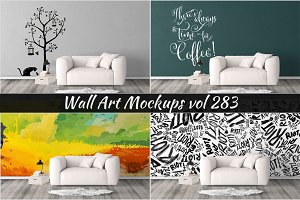 Wall Mockup - Sticker Mockup Vol 283