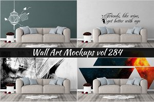 Wall Mockup - Sticker Mockup Vol 284