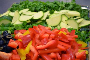 Chopped Raw Veggies