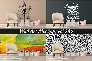 Wall Mockup - Sticker Mockup Vol 285