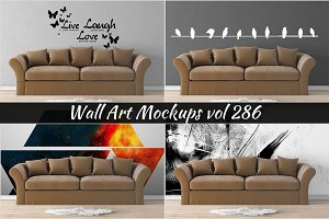 Wall Mockup - Sticker Mockup Vol 286