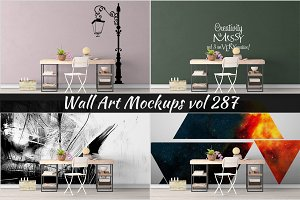 Wall Mockup - Sticker Mockup Vol 287