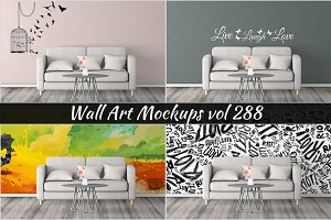 Wall Mockup - Sticker Mockup Vol 288