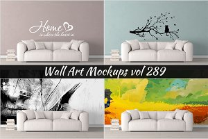 Wall Mockup - Sticker Mockup Vol 289