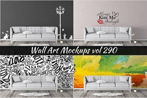Wall Mockup - Sticker Mockup Vol 290
