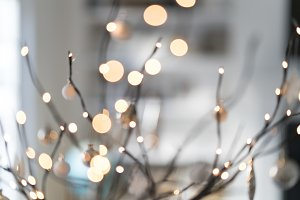 Winter holidays bokeh
