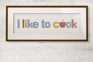 I like to cook poster