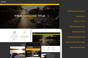 Nation Responsive Bootstrap Theme