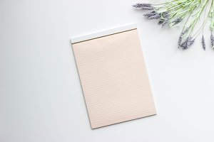 Lavender Sprig with Notepad