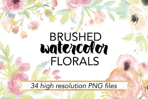 Brushed Watercolor Florals