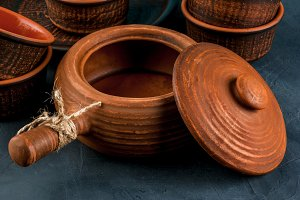 Clay rustic dishes