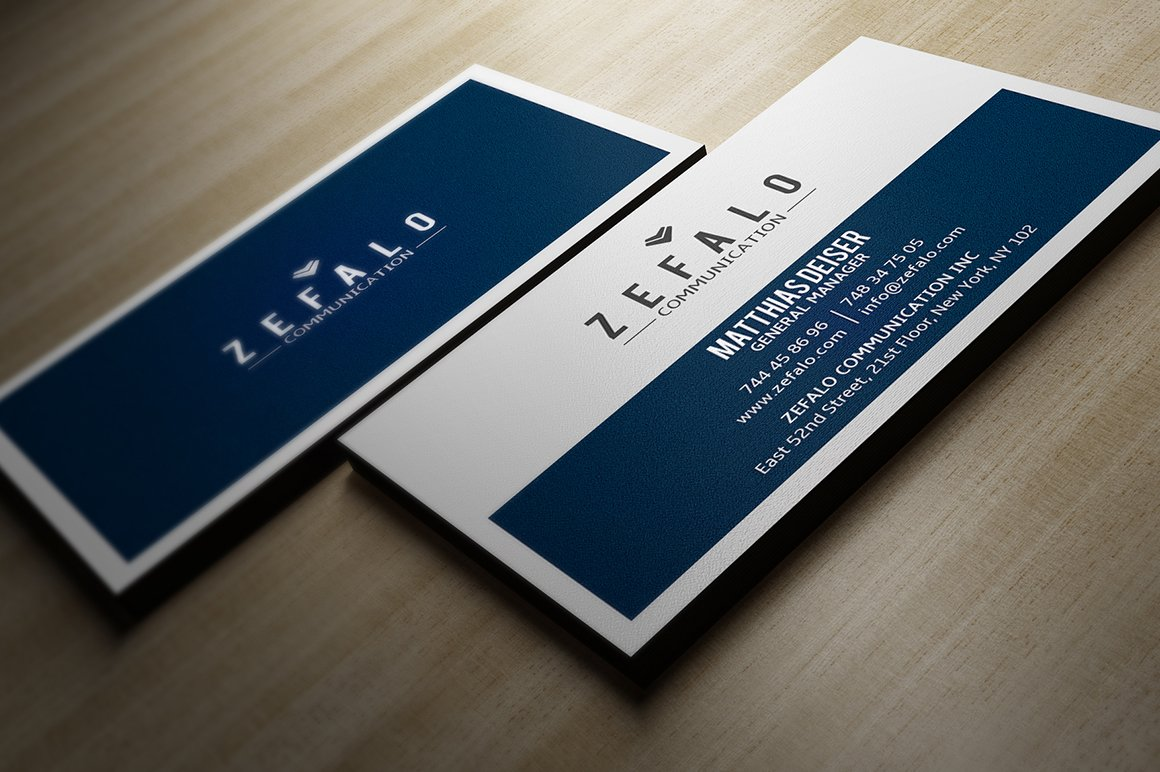 Clear Simple Business Card ~ Business Card Templates ~ Creative Market
