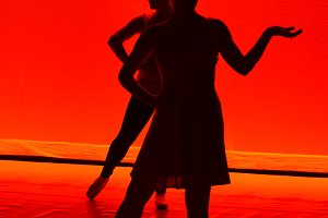 Silhouette of Female Ballet Dancers