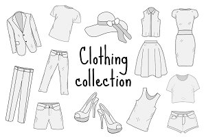 Clothing collection + Patterns set