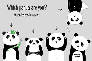 Which panda are you...nursery print