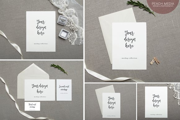 Invite mockup bundle invitation templates creative market stopboris Images