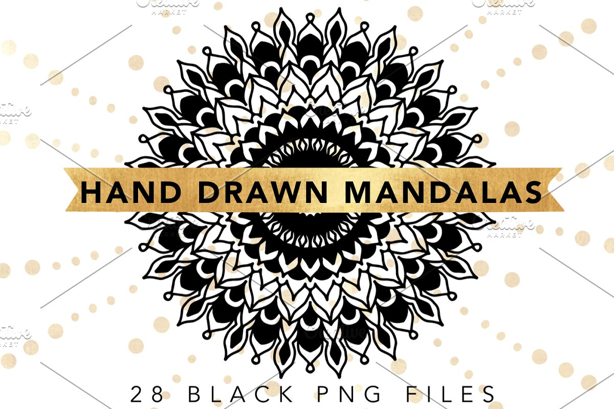 Hand Drawn Mandala & Shapes