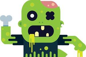 Flat Design Zombie