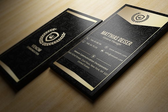 Gold and black business card business card templates creative market colourmoves