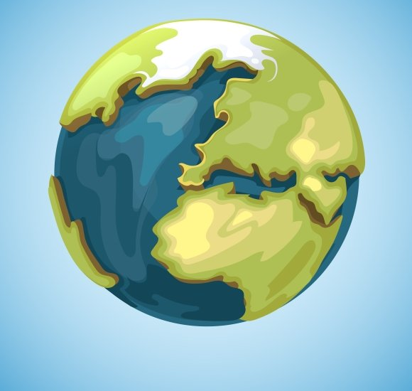 Cartoon Earth Planet