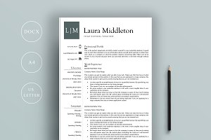 Resume 4 Page | US Letter + A4