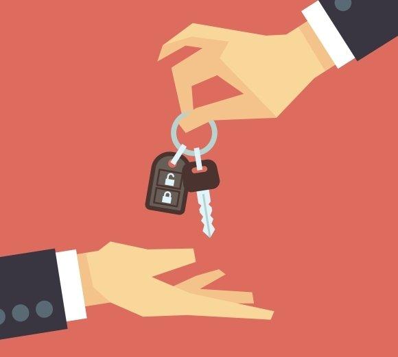 Hand Giving Car Key