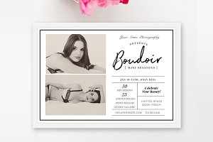 Boudoir Marketing Board Template