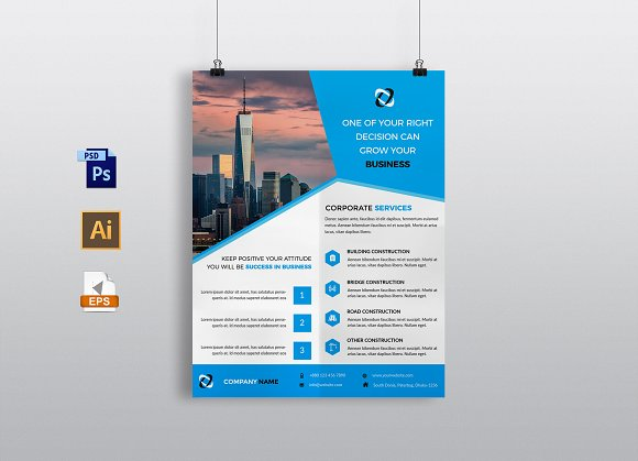 Construction flyer template flyer templates creative market construction flyer template flyers accmission Gallery