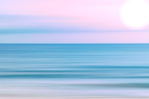 Sky and ocean blurred background