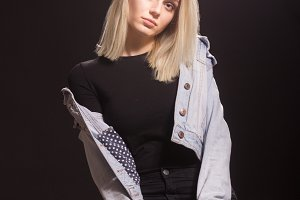blond fashion model young girl