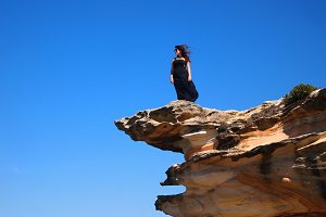 Standing on edge of the Cliff