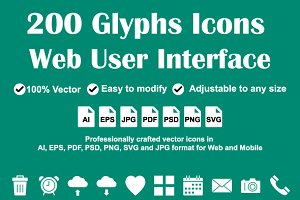 Web User Interface Icons