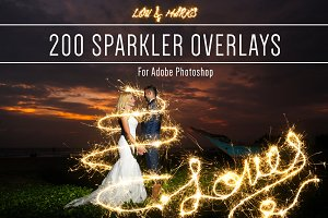 Sparkler Photoshop Overlays