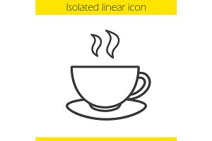 Tea cup linear icon. Vector