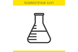 Lab beaker linear icon. Vector