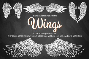 Wings Hand Drawn Set