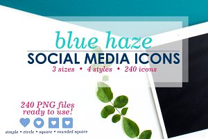 Blue Haze Social Media Icons Pack