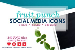 Bright Red Social Media Icons Pack