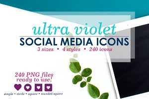 Ultra Violet Social Media Icons Pack